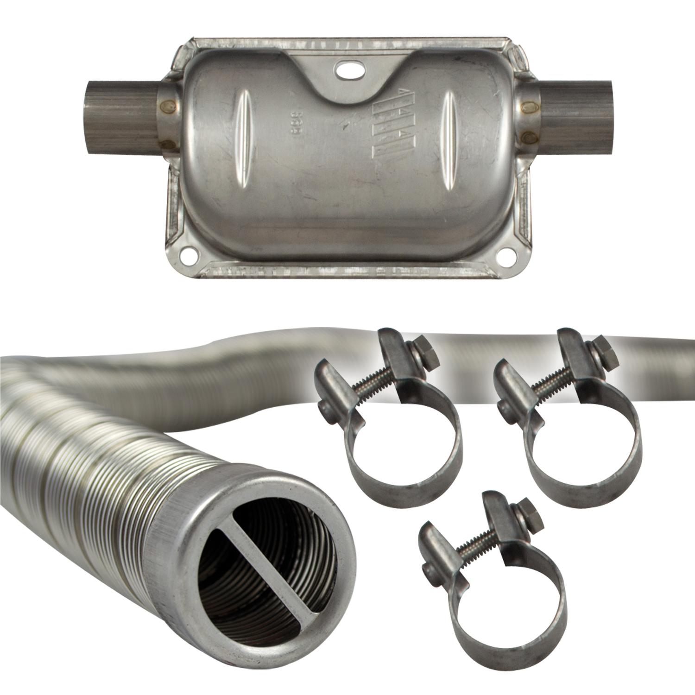 Isolierschlauch Schalldämpfer Schellen Standheizung Eberspächer Abgasrohr 24mm